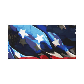 Amerikanska flaggan sträckt kanfas canvastryck