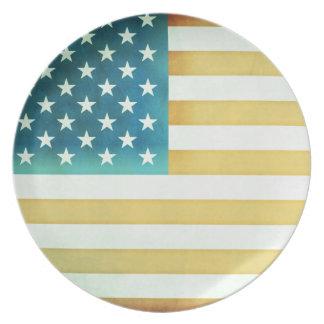 Amerikanska flaggan tallrik