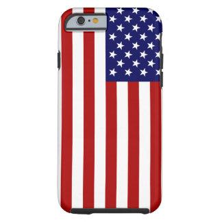 Amerikanska flaggan tough iPhone 6 fodral