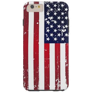 Amerikanska flaggan tough iPhone 6 plus skal