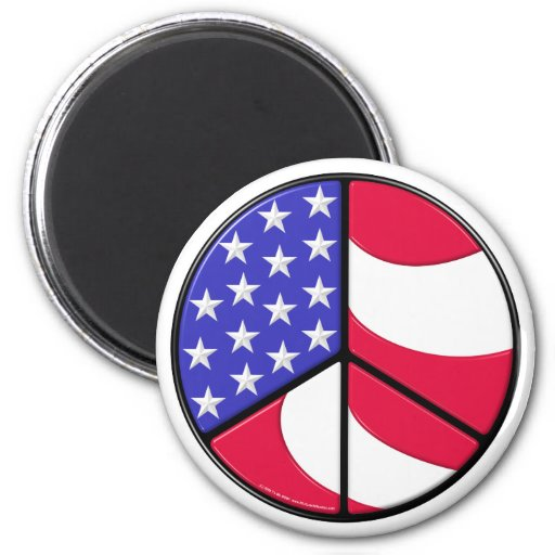 Amerikanska flagganfredstecken magneter