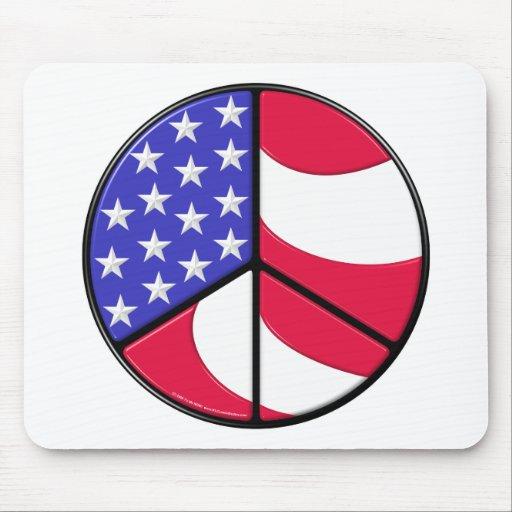 Amerikanska flagganfredstecken musmatta