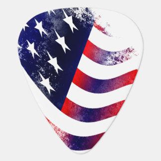 Amerikanska flaggangitarrplockor plektrum