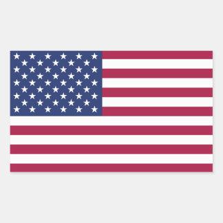 Amerikanska flagganklistermärke rektangulärt klistermärke