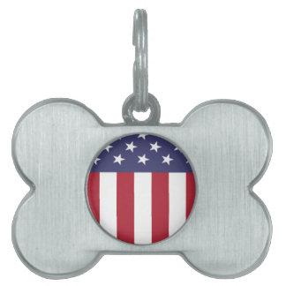 Amerikanska flagganpatrioten skyddar ID-bricka husdjur