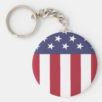Amerikanska flagganpatrioten skyddar rund nyckelring