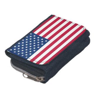 Amerikanska flagganplånboken med myntar handväskan