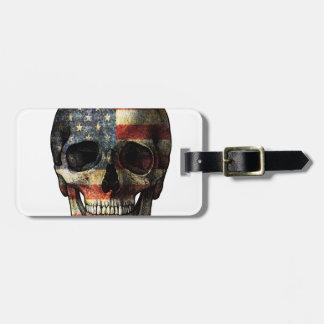 Amerikanska flagganskalle bagagebricka