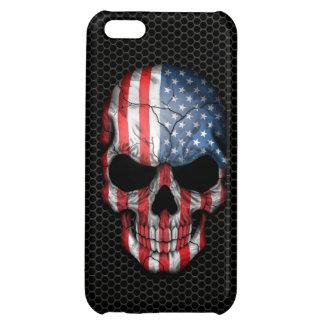 Amerikanska flagganskallen stålsätter på kopplar iPhone 5C mobil skal