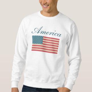 Amerikanska flaggantröja sweatshirt