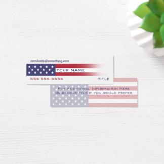 Amerikanska flagganversion 6 litet visitkort