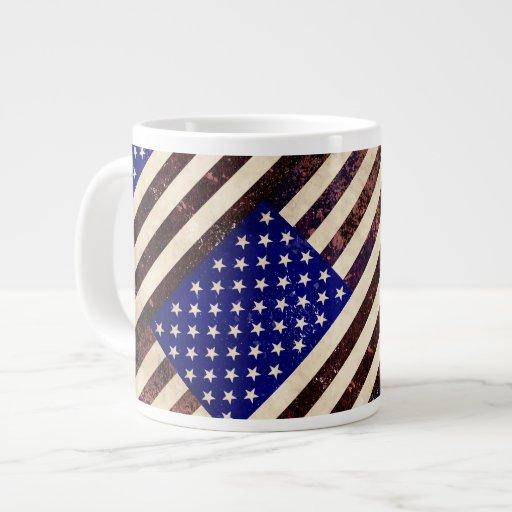 Amerikanska flagganvintageGrunge Jumbo Muggar