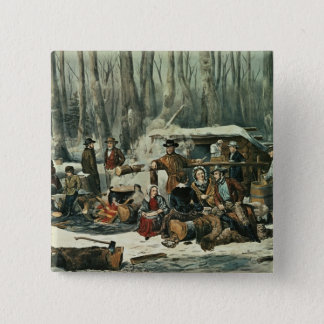 Amerikanskogplats - lönn som sockrar, 1856 standard kanpp fyrkantig 5.1 cm