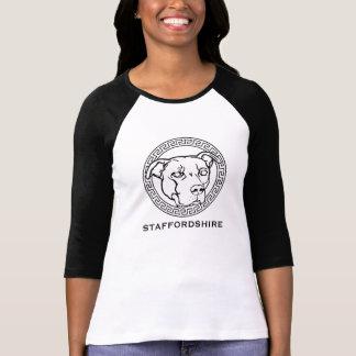 AmerikanStaffordshire kvinna baseball Jersey Tee Shirts