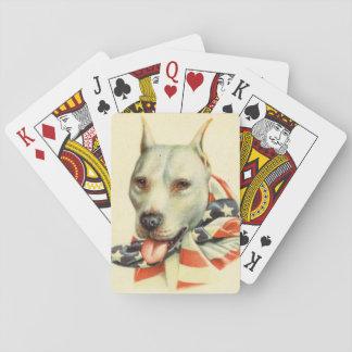 AmerikantjurTerrier circa WWI Spel Kort