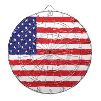 AmerikanUSA flagga*Hand Sketch* oss flagga Piltavla