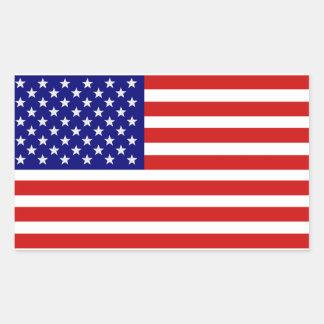AmerikanUSA flaggaklistermärke Rektangulärt Klistermärke
