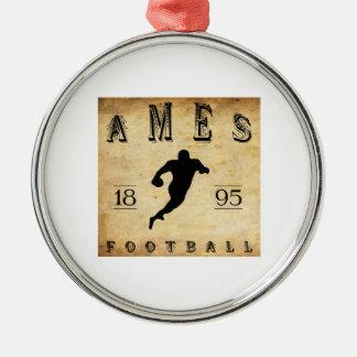 Ames Iowa fotboll 1895 Julgransprydnad Metall
