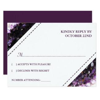 Amethyst Geode | Violetbröllop OSA 8,9 X 12,7 Cm Inbjudningskort