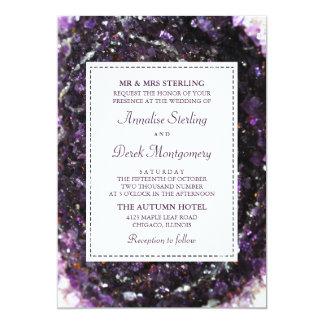 Amethyst Geode | violett bröllopinbjudan 12,7 X 17,8 Cm Inbjudningskort