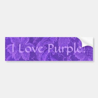 Amethyst purpurfärgad bildekal för Retro vintage