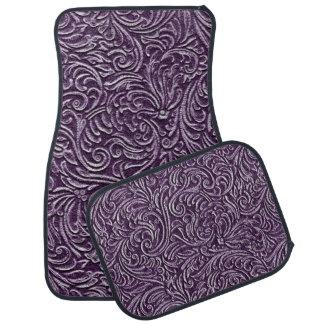 Amethyst purpurfärgad blom- Tin belägger med tegel Golvmatta