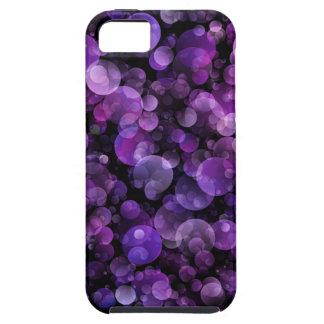 Amethyst violett lilaabstrakt Bokeh cirklar iPhone 5 Case-Mate Skal