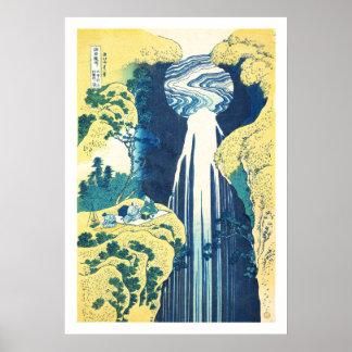 Amida nedgångar (Katsushika Hokusai det 19th Poster