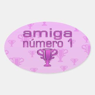 Amiga Número 1 Ovalt Klistermärke