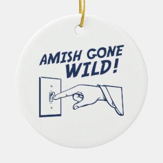 Amish borta vild! julgransprydnad keramik
