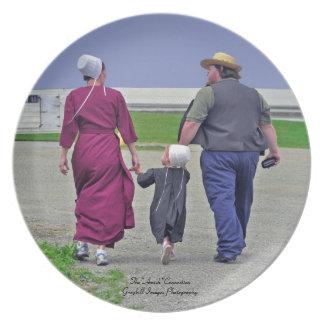 Amish familj tallrik