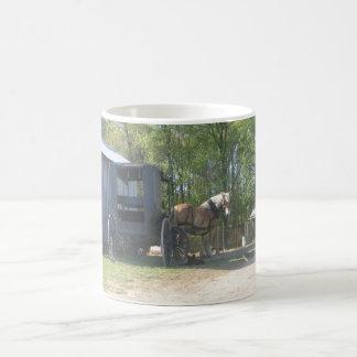 Amish häst kaffemugg