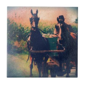 Amish hästlag kakelplatta
