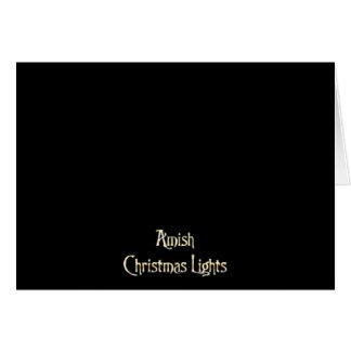Amish julljus hälsningskort