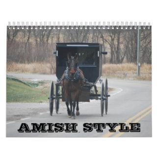 Amish stilkalender kalender