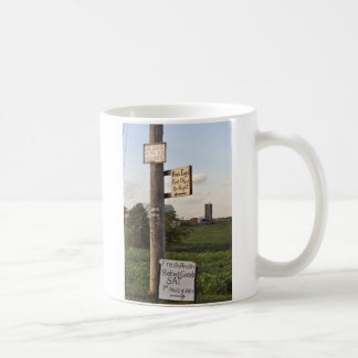 Amish tecken kaffemugg