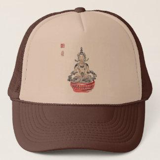 Amitabha Buddha som mediterar hatten Keps
