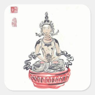 Amitayus Buddha klistermärkear Fyrkantigt Klistermärke