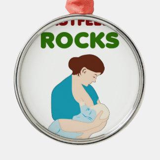 amma stenar, matar modern, bebismjölkar gåvan julgransprydnad metall