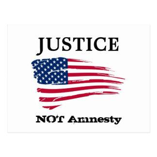 Amnesti för rättvisa inte vykort