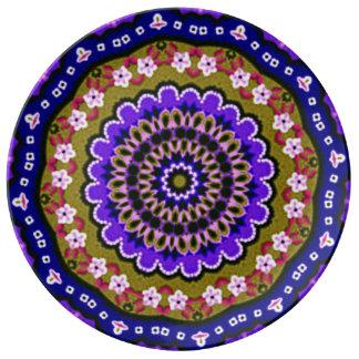 Amore (lila) uppläggningsfat porslinstallrik