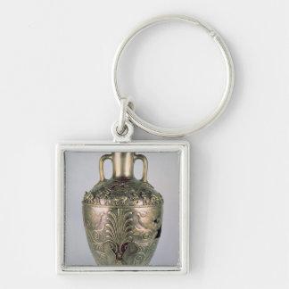 Amphora sent 4th århundrade BC Fyrkantig Silverfärgad Nyckelring