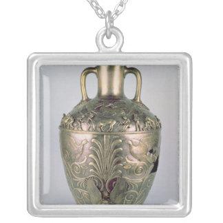Amphora sent 4th århundrade BC Silverpläterat Halsband