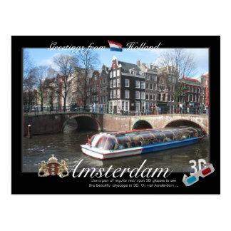 Amsterdam Holland 3D Anaglyphvykort Vykort
