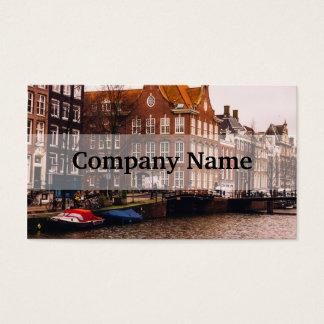 Amsterdam kanal och arkitektur visitkort