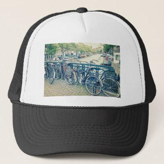 Amsterdam kanal och cyklar keps