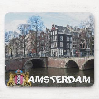 Amsterdam kanaler & överbryggar fotoet Mousepad Musmatta