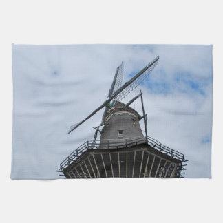 Amsterdam kvarn med blå himmel kökshandduk