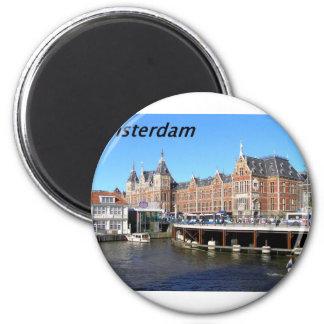 Amsterdam--Nederländerna---[kan.k] Magnet Rund 5.7 Cm