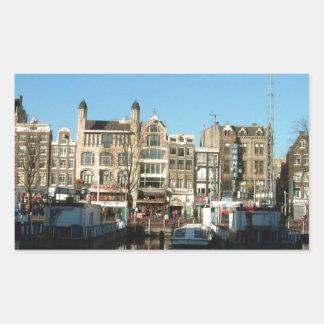 Amsterdam Nederländerna Rektangulärt Klistermärke